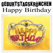 Geburtstagskrönchen Happy Birthday, Krone zur Geburtstagsparty