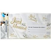 Geld-Geschenk-Umschlag Just Married zur Hochzeit
