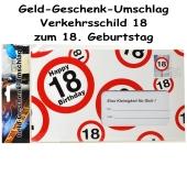 Geld-Geschenk-Umschlag zum 18 Geburtstag