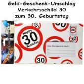 Geld-Geschenk-Umschlag zum 30. Geburtstag