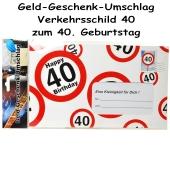 Geld-Geschenk-Umschlag zum 40. Geburtstag