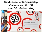 Geld-Geschenk-Umschlag zum 50. Geburtstag