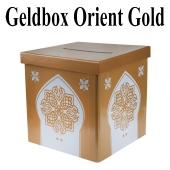 Geldbox Orient Gold, Gelddose für orientalische Hochzeiten
