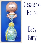 Geschenkballon, Geburt, Taufe, Baby Party