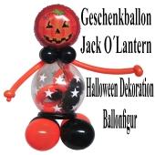 Geschenkballon zu Halloween, Ballonfigur, Ballondekoration
