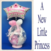 Geschenkballon, Geburt, Taufe, Baby Party, A New Little Princess