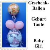 Geschenkballon zu Geburt und Taufe, Girl, Mädchen