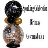 Geschenkballon Sparkling Celebration Happy Birthday zum Geburtstag