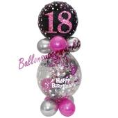 Geschenkballon Pink Celebration 18 zum 18. Geburtstag
