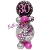 Geschenkballon Pink Celebration 30 zum 30. Geburtstag