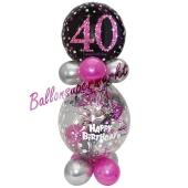 Geschenkballon Pink Celebration 40 zum 40. Geburtstag