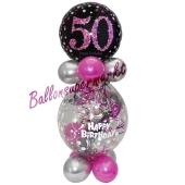Geschenkballon Pink Celebration 50 zum 50. Geburtstag