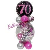 Geschenkballon Pink Celebration 70 zum 70. Geburtstag