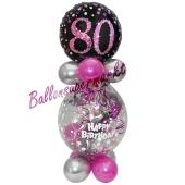 Geschenkballon Pink Celebration 80 zum 80. Geburtstag