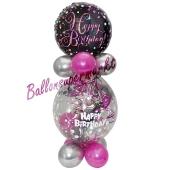 Geschenkballon Pink Celebration Happy Birthday zum Geburtstag