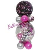 Geschenkballon Pink Celebration Herzlichen Glückwunsch zum Geburtstag