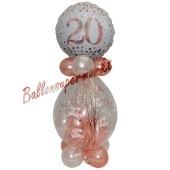 Geschenkballon Sparkling Fizz Rosegold 20 zum 20. Geburtstag