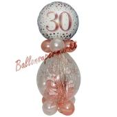 Geschenkballon Sparkling Fizz Rosegold 30 zum 30. Geburtstag