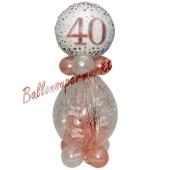 Geschenkballon Sparkling Fizz Rosegold 40 zum 40. Geburtstag