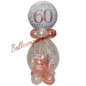 Geschenkballon Sparkling Fizz Rosegold 60 zum 60. Geburtstag