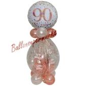 Geschenkballon Sparkling Fizz Rosegold 90 zum 90. Geburtstag