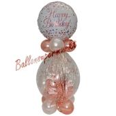 Geschenkballon Sparkling Fizz Rosegold Happy Birthday zum Geburtstag
