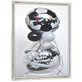 Geschenkballon zum Geburtstag, Fußball, Happy Birthday
