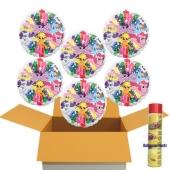 Geschenkidee zum Kindergeburtstag: 6 Luftballons aus Folie, My Little Pony