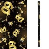 Geschenkpapier Schwarz Gold 60 zum 60. Geburtstag