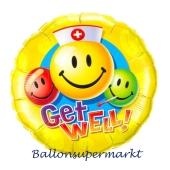 Get Well! Luftballon mit Ballongas Helium. Ballongrüße: Gute Besserung