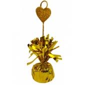 Ballongewicht, gold mit Deko-Herz fuer Heliumgefuellte Ballons