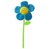 Ballongewicht Blume, blau, Plüsch