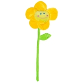 Ballongewicht Blume, gelb, Plüsch