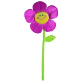 Ballongewicht Blume, lila, Plüsch