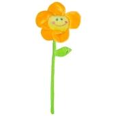 Ballongewicht Blume, orange, Plüsch