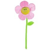 Ballongewicht Blume, rosa, Plüsch