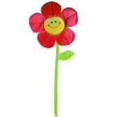 Ballongewicht Blume, rot, Plüsch