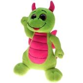 Ballongewicht Drache, grün-pink, Plüschtier