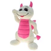 Ballongewicht Drache, weiß-pink, Plüschtier
