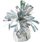 Ballongewicht, Folie, Silber, holografisch