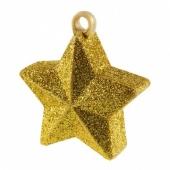 Ballongewicht Stern mit goldenem Glitzer