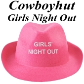 Cowboyhut Girls Night Out  in Pink zu Hen-Party und Junggesellinnenabschied