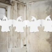 Halloween-Deko-Girlande mit Geistern