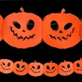 Halloween-Deko-Girlande mit Kürbissen