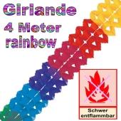 Girlande Regenbogenfarben 4 Meter