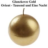 Glanzkerze Gold, Tausend und eine Nacht, Orient, Tischdekoration