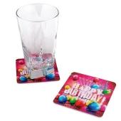 Happy Birthday Glasuntersetzer zum Geburtstag, Kindergeburtstag