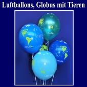 Luftballons, Globus mit Tieren