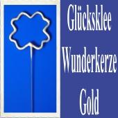 Glücksklee, Kleeblatt Wunderkerze, Gold