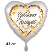 Folienballon ohne Helium: Goldene Hochzeit
